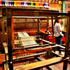 An old weaving machine shown inside the ancestral home.