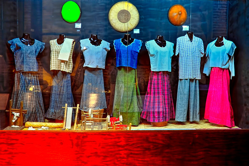 The different common attires of women in Ilocos.<br /> <br /> Its presentations are continually evolving, responding to new findings and revelations on the cultures of Ilocos Norte. In the Museum proper, artifacts illustrate how peoples such as the Ilocanos, Yapayaos, Isnegs and Igorots have wrested a living from the earth and waters of the province.