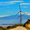 """The Bangui Windmills or Bangui Windfarm is located <a href=""""http://maps.google.com/maps/ms?ie=UTF8&oe=UTF8&msa=0&msid=104271471686970345624.00048c6078efcec5f244e""""><b>here<b></a>  The turbines are on-shore and arranged in a single row spaced 326 meters apart. The turbines hub height (ground level to center of nacelle - that part holding the blades) is 70 meters high (roughly equivalent to a 23 storey building), each blade is 41 meters long (just 9 meters shy of a Olympic sized pool) giving a rotor diameter of 82 meters and a wind swept area of 5,281 square meters."""