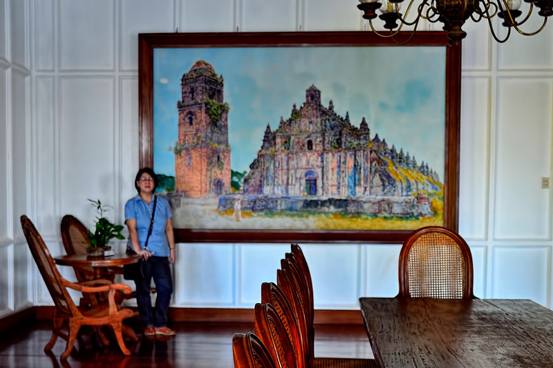 A very nice painting of the Paoay Church.