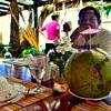 "A serving of fresh ""Buko"" juice (young coconut juice)."