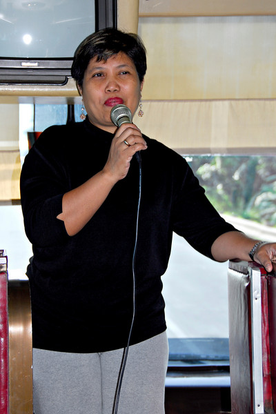 Tina is our tour guide for the Culinary Tour of the Southern Tagalog Region.