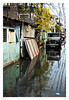 At high tide or after a rain it floods the city of Malabon.