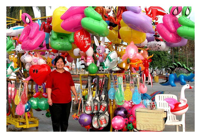 "The ""big baby"" wants a balloon!"