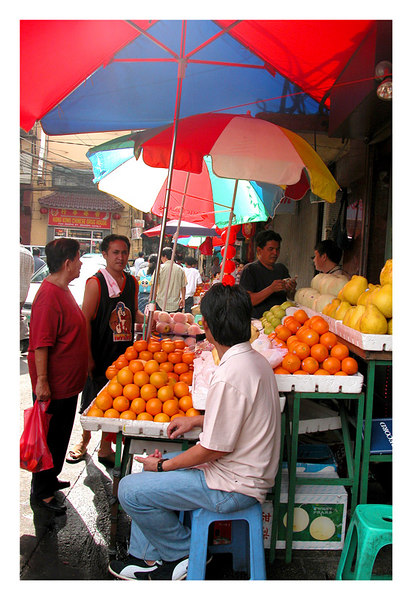 At the chinese district's fruit market in Binondo. I was there for the Chinese restaurant and not for the fruit.