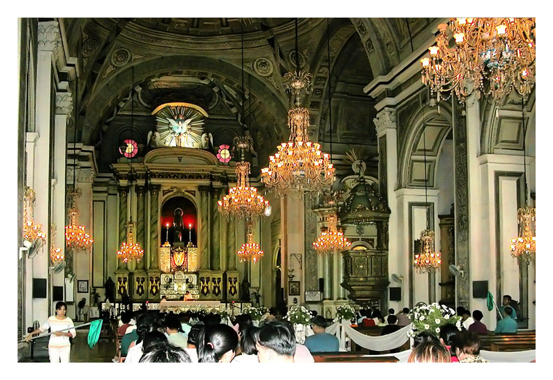 San Agustin Church - A view of the altar.