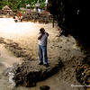 Andre' checking on the cove at one of the land protrusion at Raymen beach.