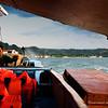Our boat approaching Guimaras Island.