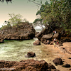 A nice cove at one end of Raymen beach.