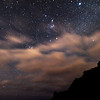 Stars and incoming clounds, New Zealand