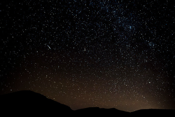 Meteors over the California desert.
