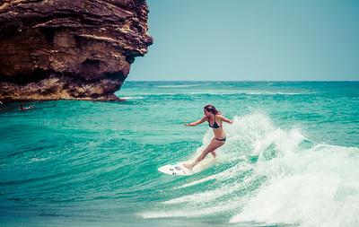 Poipu surfers