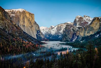 Low fog warning, Yosemite Valley.