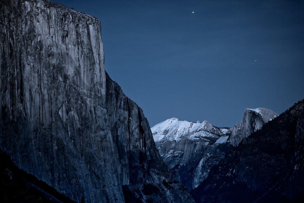 Moonlight on Yosemite