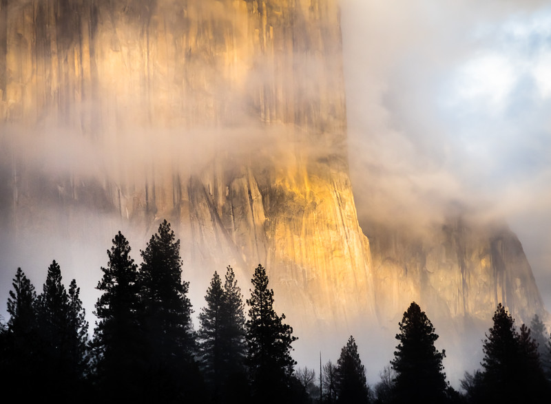 Clearing fog on El Capitan