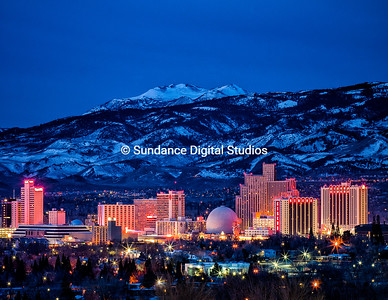 Reno Nevada at night