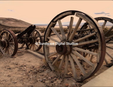 Abandoned wagon in Rhyolite Ghosttown