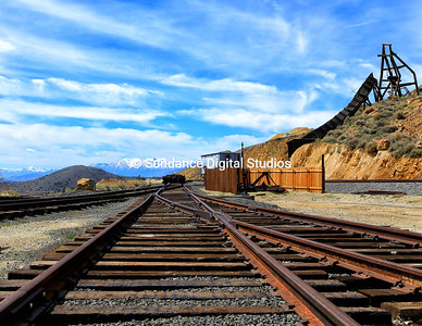 Gold Hill NV Railroad perspective