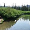 Resting upon arrival at Titus Lake