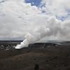 The active Kilauea volcano in Hawai'i Volcanoes National Park