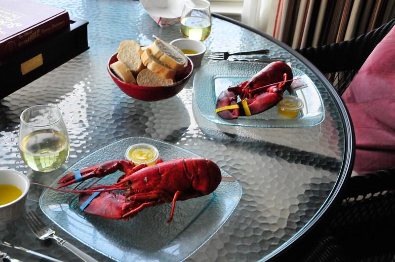 Lobster dinner in Rockport