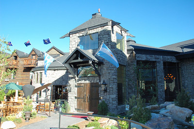 The Main Entrance of the Mt. Charleston Hotel
