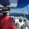Lisa at the helm.