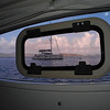Porthole view from our cabin.  Nice way to wake up in the morning.