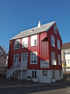 One of the many wonderful and bright buildings around Iceland. This one in Reykjavik town.