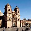 The Church of La Compania de Jesus and Museo Coriconcha on the left.