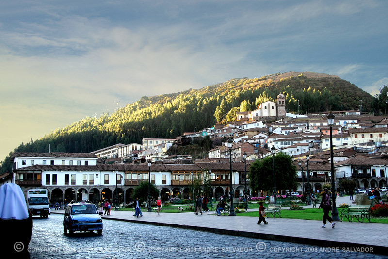A view of Cusco from Plaza de Armas, the heart of the city.