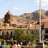 The hills of Cusco from Plaza Armas.