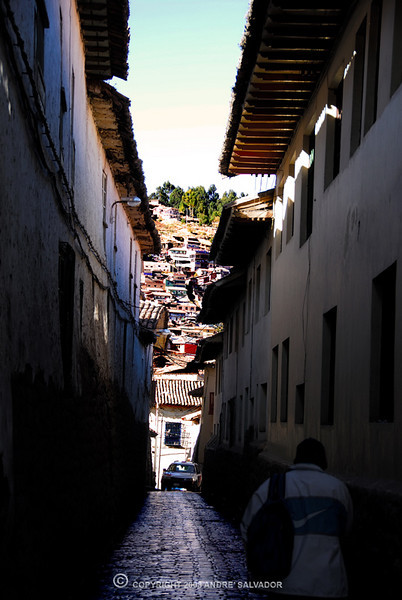 The secondary streets in Cusco are all very narrow but very interesting photo subjects, like the next three photographs.