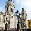 The Basilica Cathedral of Lima is a Roman Catholic cathedral located in the Main Plaza of downtown Lima, Peru. It started its construction in 1535. It has been transformed many times, but it still conserves its colonial composition and facade.