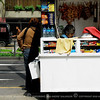 A street scene - A snack stand on wheels.