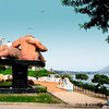 "While S Korea has a sex park, Peru has a love park.<br /> <br /> Love Park is located on the cliffs of Chorrillos overlooking the Pacific Ocean. It's surrounded by walls of romantic quotes scripted in mosaic tiles and a monumental statue of two lovers embracing each other in the center of the park. ...<br /> <br /> The major sculpture in the park is of ""El Beso"", a couple engaged in a passionate kiss. It was sculpted by Victor Delfin. <br /> <br /> The sculpture celebrates the lovers who gather to catch the sunset on the waters of the Pacific Ocean. It is said that the locals compete for the longest kiss under this statue. ..."