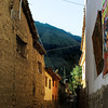 A narrow street in Ollantaytambo.