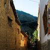 A narrow street in Ollantaytambo.