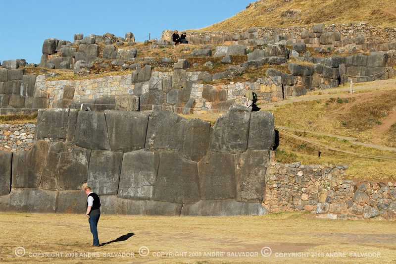 This picture will show you the scale of the stones at the ruins of Saqsayhuaman.