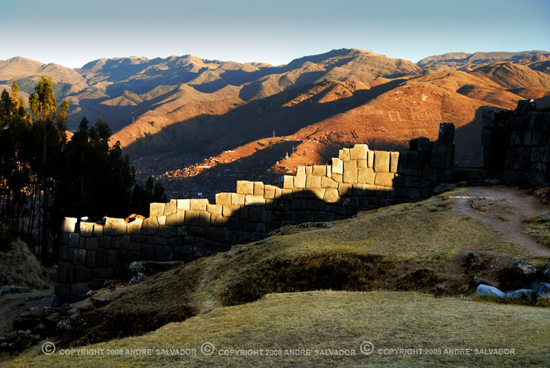 Taken just before the sun went down the horizon. The walls of Saqsayhuaman at the forground and the city of Cusco beyond.