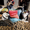 These are all different types of potatoes. The Peruvians are proud of the different type of potatoes they produce.