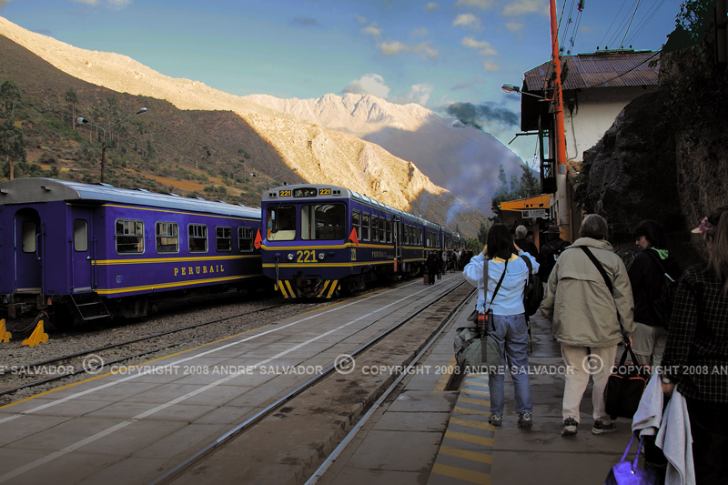 We were at the train station of PeruRail of Ollantaytambo at &:45AM, our destination is Machu Picchu.<br /> <br /> PeruRail is one of the highest railways of the world delivering passengers to Machu Picchu.