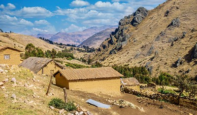 Rural Peru between Cusco and Manu National Park.