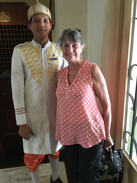 Raffles doorman in Siem Reap