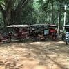 Remorks waiting for fares at Angkor Wat