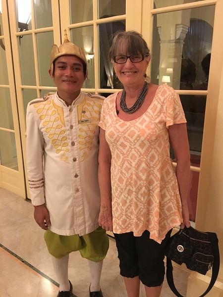 Raffles Hotel doorman at Phnom Penh
