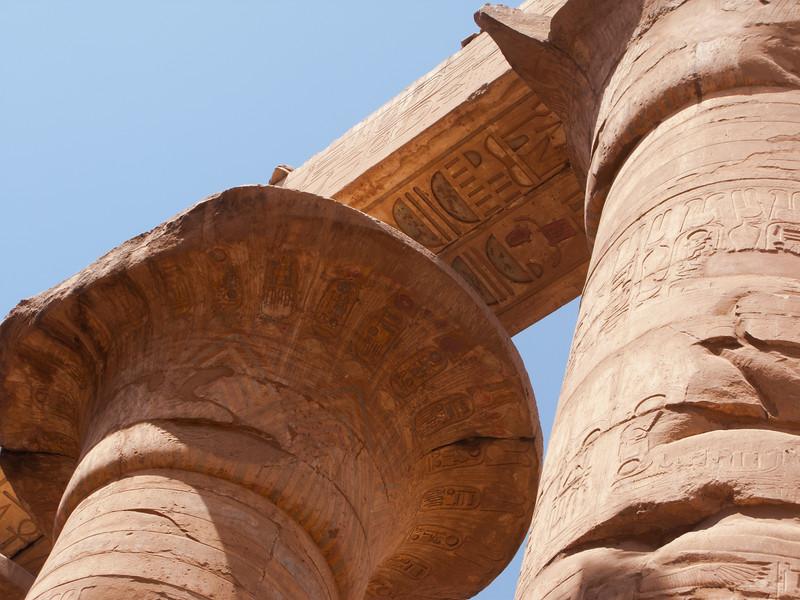 lotus column detail in Karnak Temple