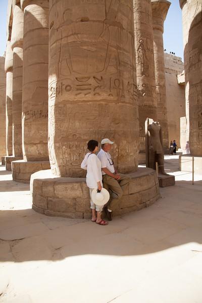 Kathi and Richard at Karnak