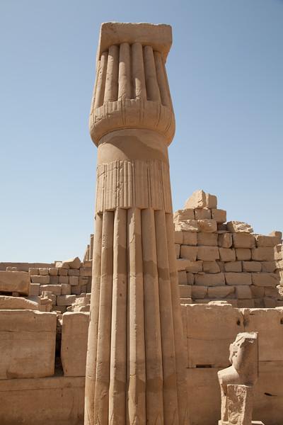 closed lotus column in Karnak Temple