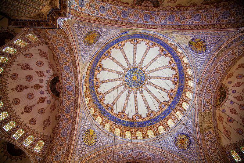 ceiling of Blue Mosque (Sultanahmet)
